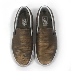 VANS Classic Slip On Sneakers Brushed Gold Bronze